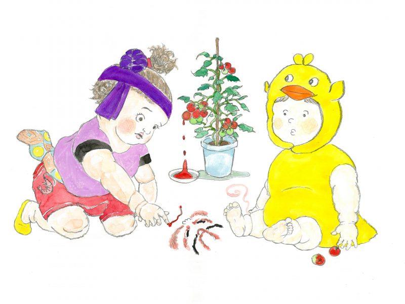 カゴメ×KEYUCA×Hama House トマトの収穫祭「ケチャップで隈取にチャレンジ!」