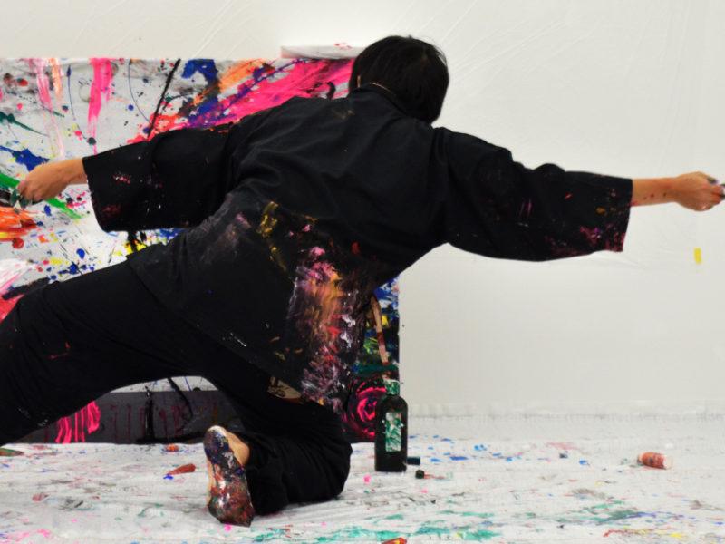 ダンス×アート!『流れる宝石箱』ライブペイント無料配信 @Hama House