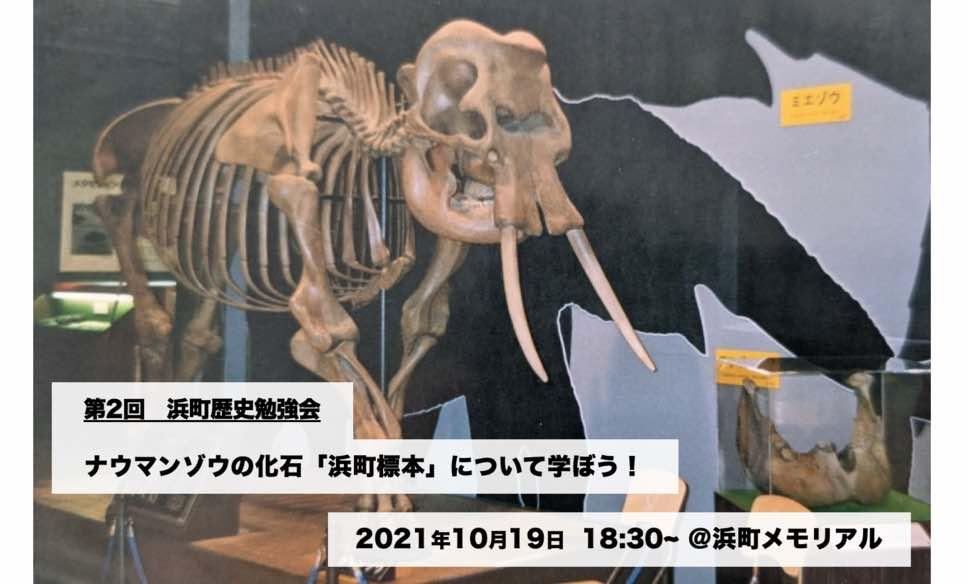 【10月19日】第2回浜町歴史勉強会『ナウマンゾウの化石「浜町標本」プロジェクト』